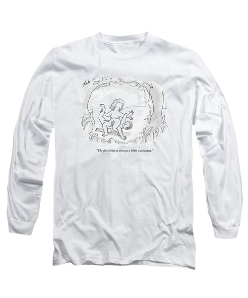 Adam Is On His Hands And Knees And Eve Is Sitting Long Sleeve T-Shirt