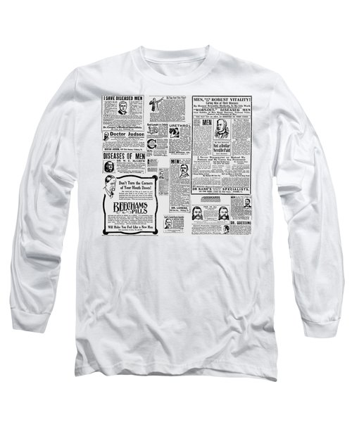 Advert - Edwardian Mens Health Long Sleeve T-Shirt