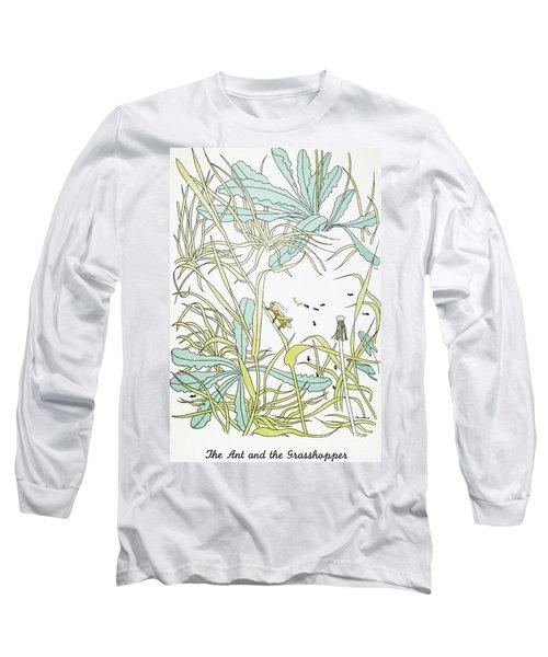 Aesop: Ant & Grasshopper Long Sleeve T-Shirt by Granger