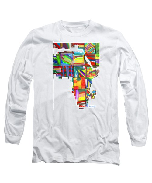 Long Sleeve T-Shirt featuring the painting African Brightness by Mudiama Kammoh