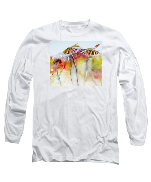 African Daisy Abstract Long Sleeve T-Shirt by Lisa Kaiser