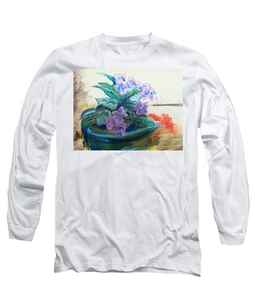 African Violet Long Sleeve T-Shirt by Hae Kim