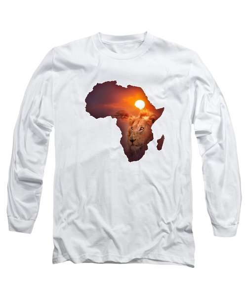 African Wildlife Map Long Sleeve T-Shirt