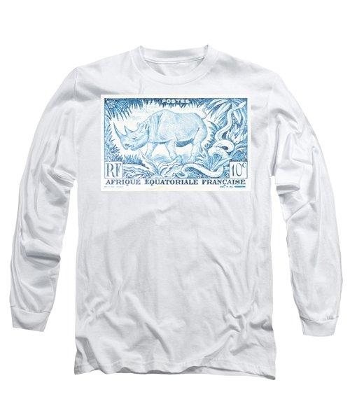 Afrique Rhino Long Sleeve T-Shirt