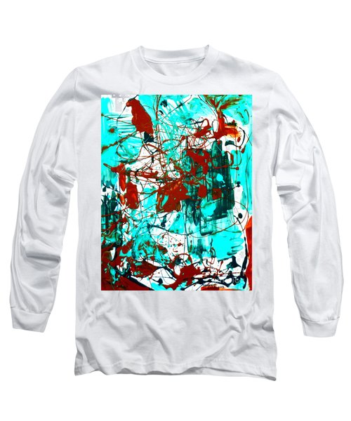 After Pollock Long Sleeve T-Shirt by Genevieve Esson
