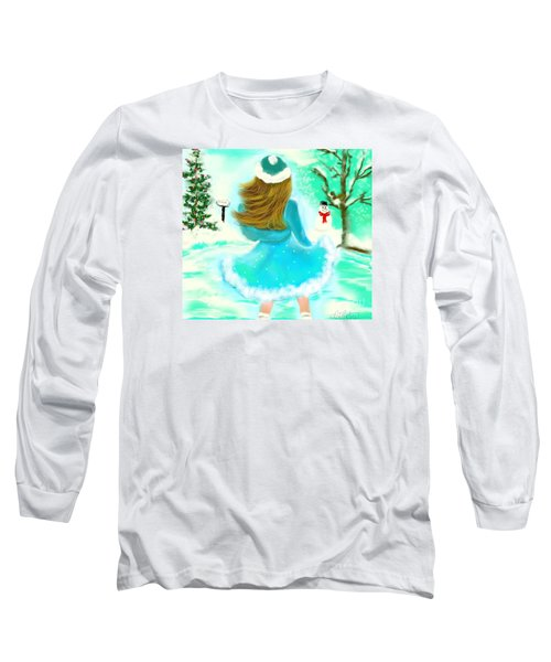 Long Sleeve T-Shirt featuring the drawing Afternoon Skating by Lori  Lovetere
