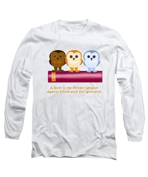 Long Sleeve T-Shirt featuring the painting Against Ignorance by Leena Pekkalainen