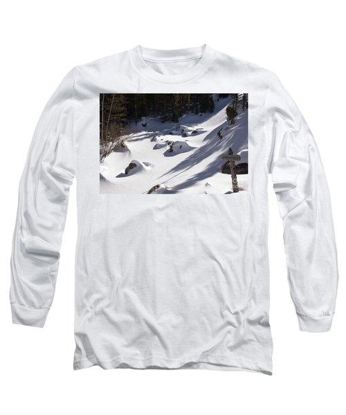 Alberta Falls In Estes Park Colorado Long Sleeve T-Shirt by Loriannah Hespe
