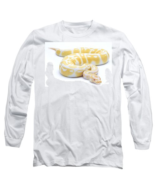 Albino Royal Python Long Sleeve T-Shirt by Michel Gunther