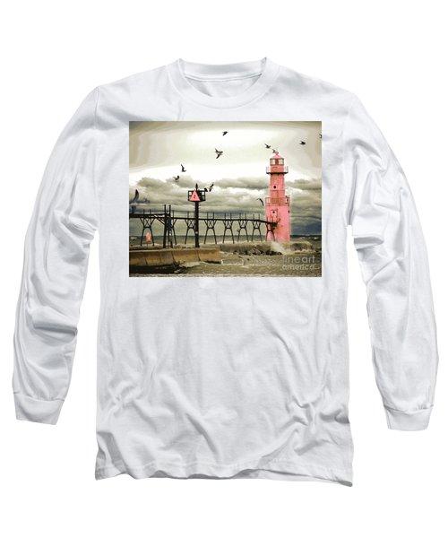 Algoma Pierhead Lighthouse Long Sleeve T-Shirt
