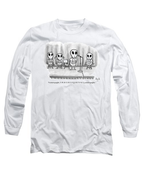 Aliens Participating In A Spelling Bee Long Sleeve T-Shirt