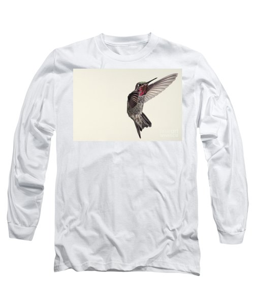 Allens Hummingbird In Flight Long Sleeve T-Shirt