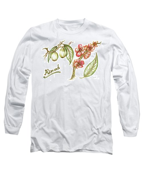 Almond With Flowers Long Sleeve T-Shirt
