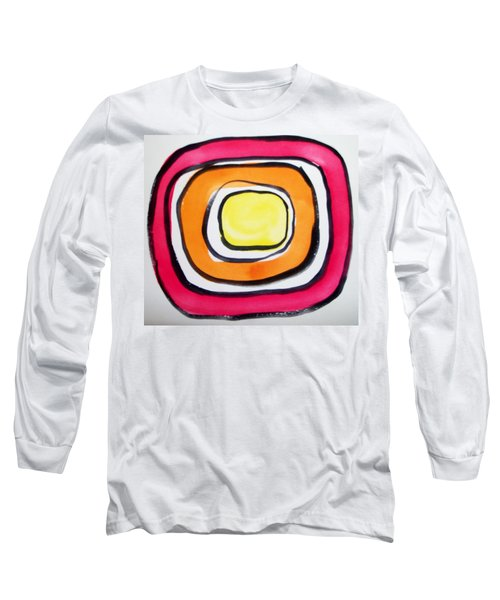 Long Sleeve T-Shirt featuring the painting Almost Circles by Erika Chamberlin