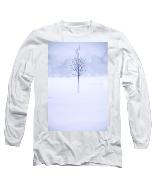 Long Sleeve T-Shirt featuring the photograph Alone In The Snow by Andrew Soundarajan