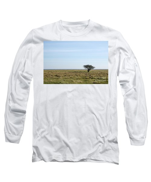 Long Sleeve T-Shirt featuring the photograph Alone Tree At A Coastal Grassland by Kennerth and Birgitta Kullman