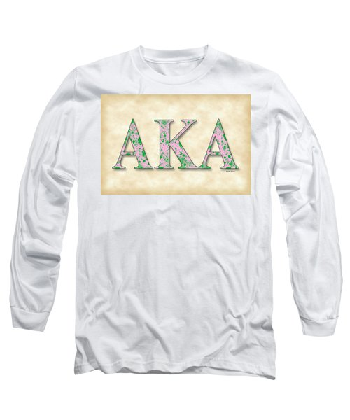 Alpha Kappa Alpha - Parchment Long Sleeve T-Shirt by Stephen Younts