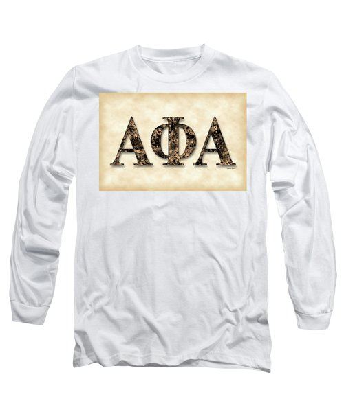 Alpha Phi Alpha - Parchment Long Sleeve T-Shirt by Stephen Younts