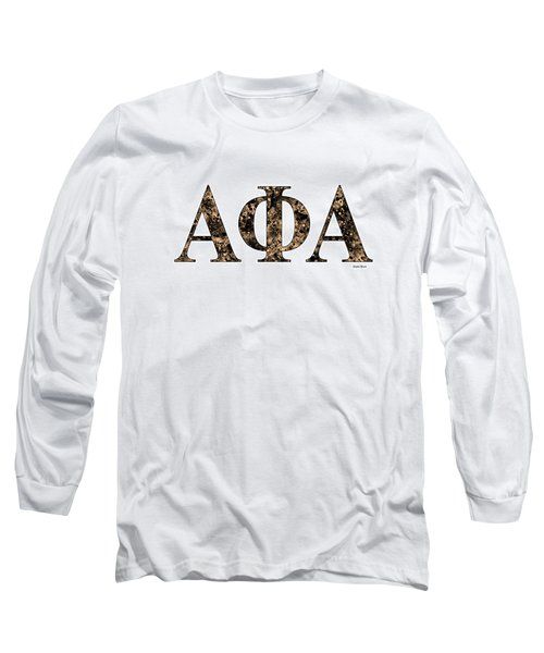 Long Sleeve T-Shirt featuring the digital art Alpha Phi Alpha - White by Stephen Younts