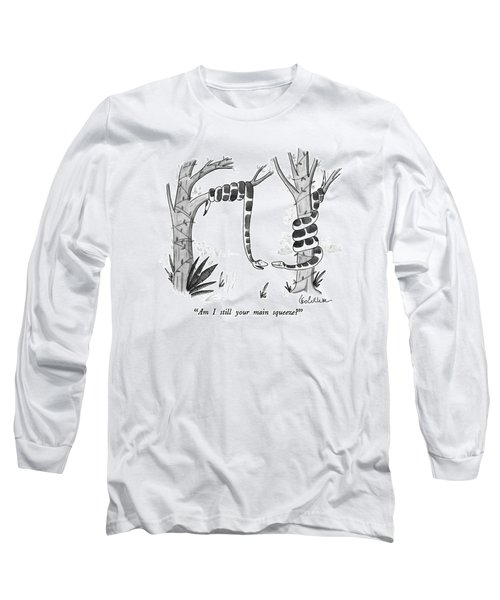 Am I Still Your Main Squeeze? Long Sleeve T-Shirt by Leo Cullum