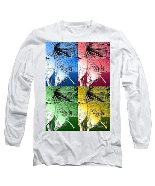 Amaryllis Pop Art Long Sleeve T-Shirt