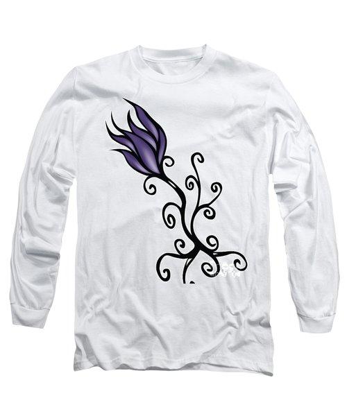 Long Sleeve T-Shirt featuring the digital art Amathist Rose by Jamie Lynn