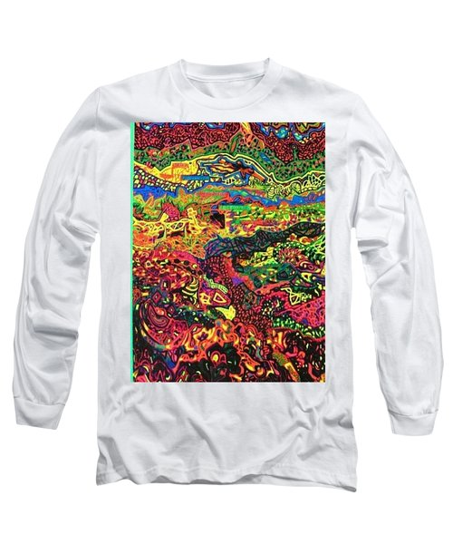 Long Sleeve T-Shirt featuring the drawing American Abstract by Jonathon Hansen