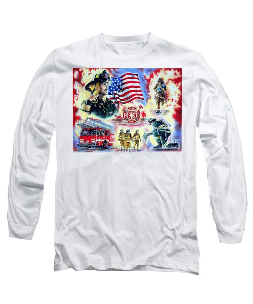 American Firefighters Long Sleeve T-Shirt