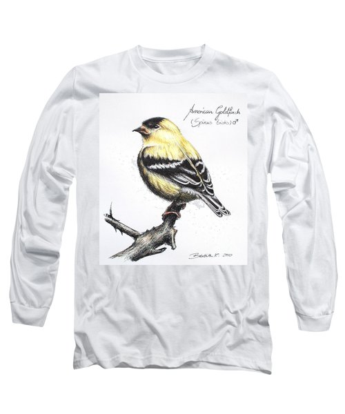 American Goldfinch Long Sleeve T-Shirt by Katharina Filus