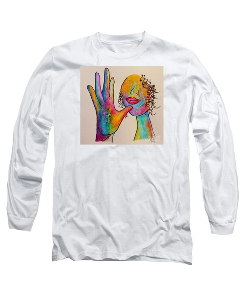 American Sign Language . . .  Mother Long Sleeve T-Shirt by Eloise Schneider