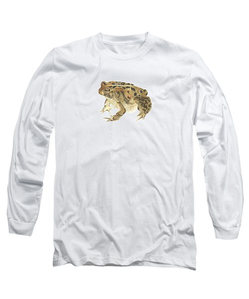American Toad Long Sleeve T-Shirt by Cindy Hitchcock