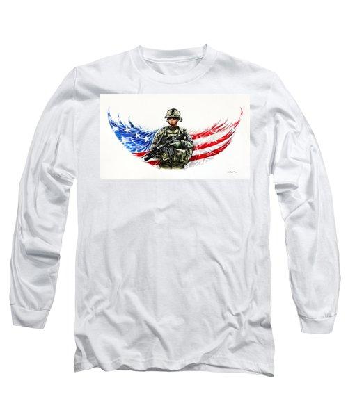Americas Guardian Angel Long Sleeve T-Shirt