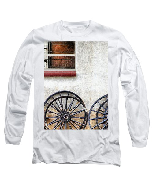 Amish Buggy Wheels Long Sleeve T-Shirt by Polly Peacock