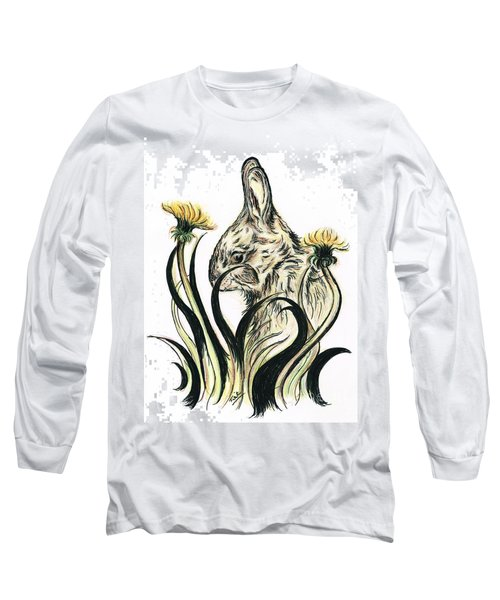 Rabbit- Amongst The Dandelions Long Sleeve T-Shirt