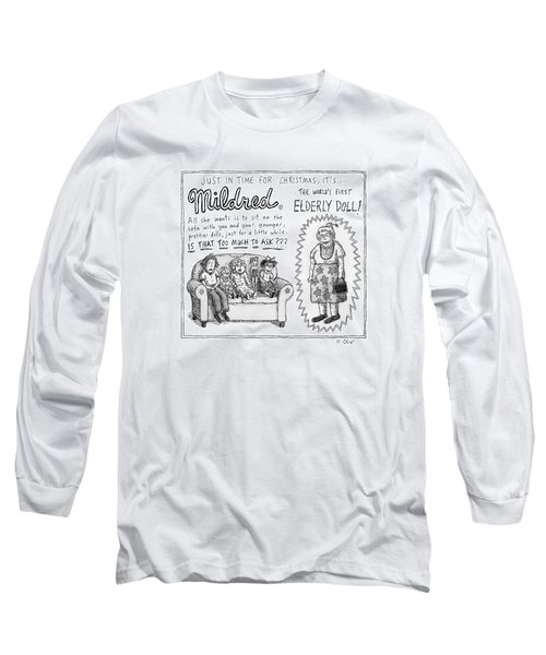 An Advertisement For Mildred Long Sleeve T-Shirt