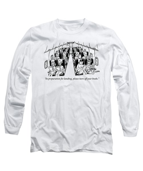 An Airplane Is Seen Full Of Passengers Holding Long Sleeve T-Shirt