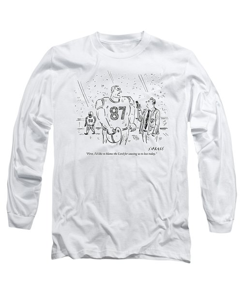 An Angry Football Player Is Being Interviewed Long Sleeve T-Shirt