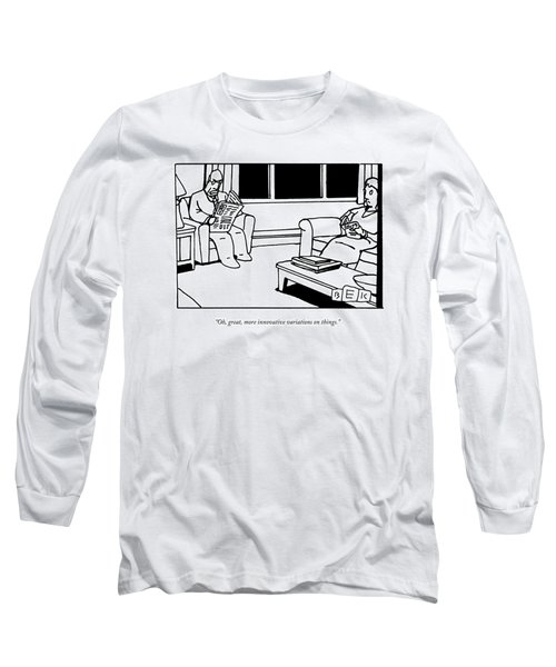 An Angry Man Reads The Newspaper Long Sleeve T-Shirt