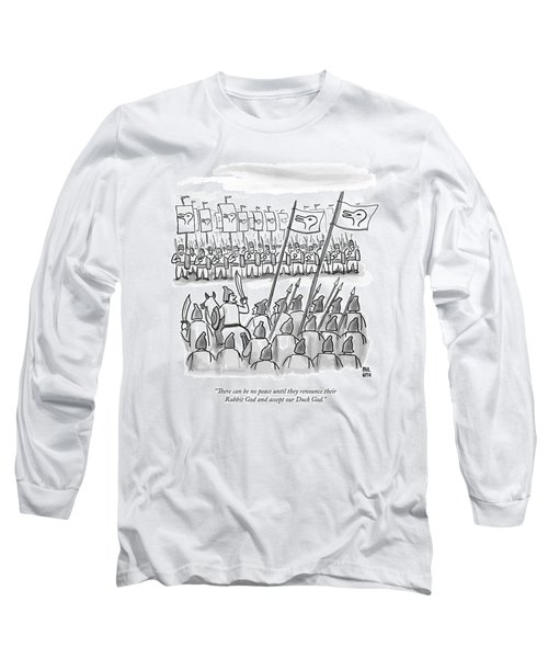 An Army Lines Up For Battle Long Sleeve T-Shirt