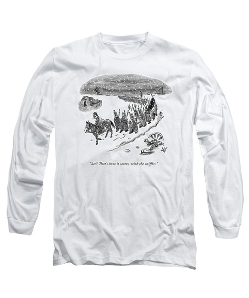 An Army Of Napoleonic Soldiers Walk Home Though Long Sleeve T-Shirt