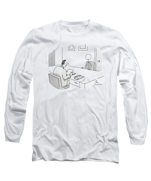 An Employer Interviews A Stick Figure Long Sleeve T-Shirt