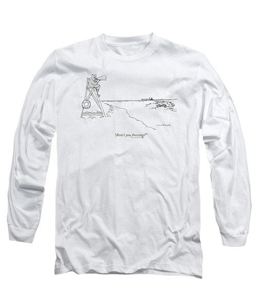 An Eskimo With A Megaphone Sits Atop A Lifeguard Long Sleeve T-Shirt