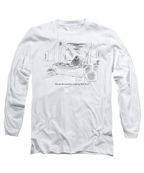 An Executive Sitting In His Office Speaks Long Sleeve T-Shirt