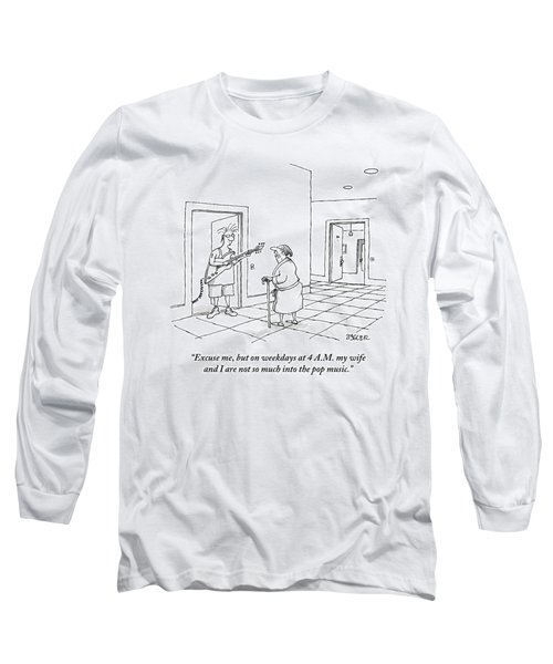 An Old Man In A Bathrobe Addresses A Young Man Long Sleeve T-Shirt