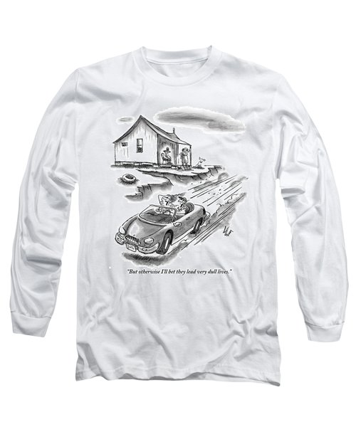 An Old Married Couple Sitting On Their Porch Long Sleeve T-Shirt