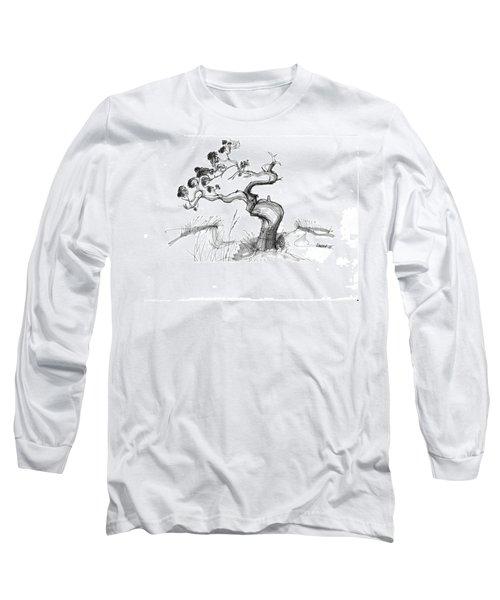 Ancient Loblolly Pine Ocracoke Nc 1970s Long Sleeve T-Shirt