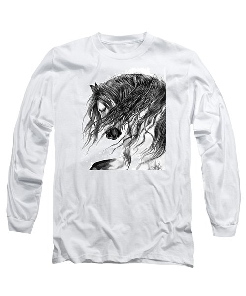 Andalusian Arabian Head Long Sleeve T-Shirt