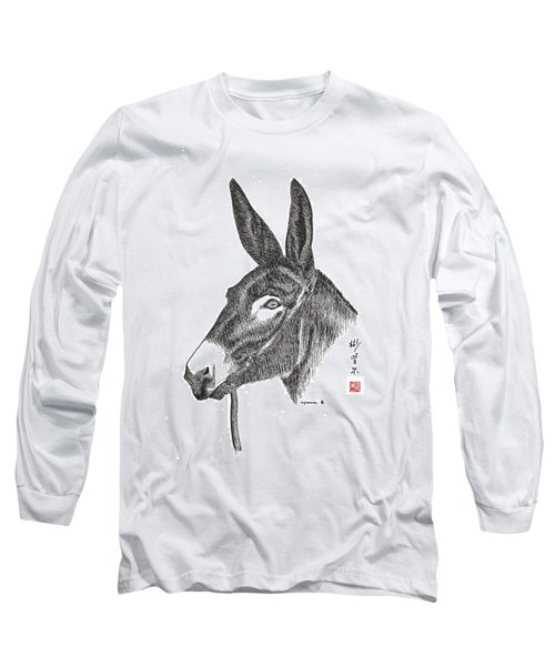 Long Sleeve T-Shirt featuring the painting Andy by Bill Searle