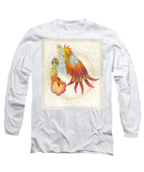 Angel Phoenix Long Sleeve T-Shirt by Shawn Dall