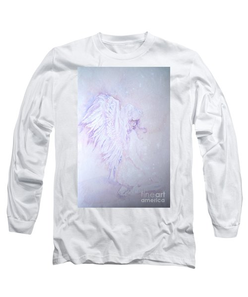 Long Sleeve T-Shirt featuring the painting Angel by Sandra Phryce-Jones